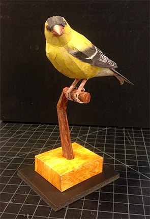 Papercraft Goldfinch