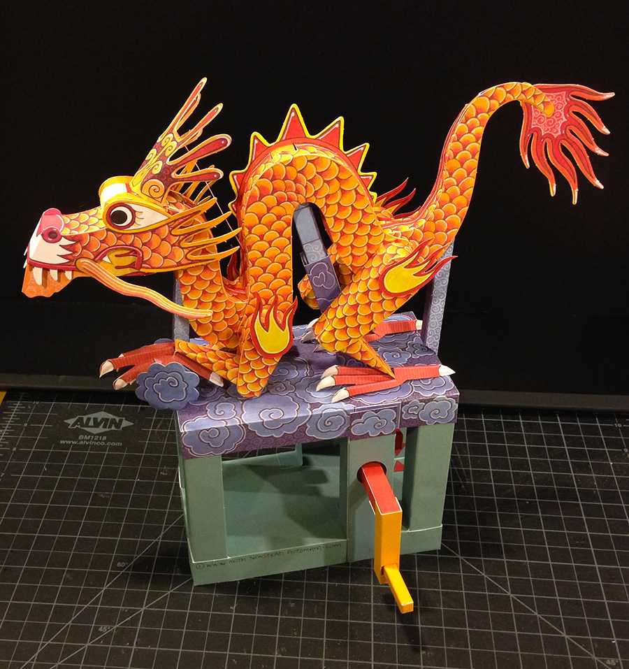 The Dragon on the Cloud Automata
